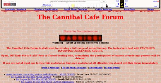 Situs Terlarang Forum kanibal Pemakan Daging Manusia