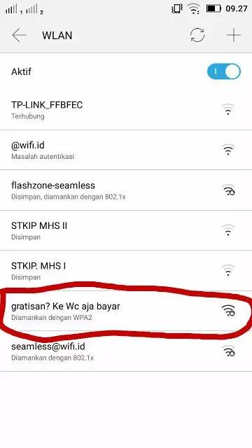 Nama Wifi Lucu Nyindir Yang Suka Cari Gratisan