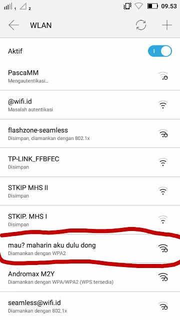 Nama Wifi Lucu dan Bikin Ngakak