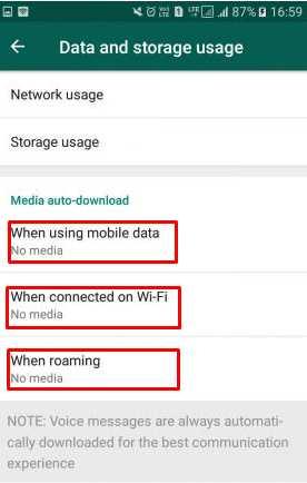 Cara Matikan Fitur Unduhan otomatis WhatsApp