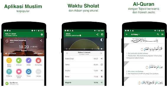 Aplikasi pengingat sholat Muslim Pro - Waktu Sholat, Adzan, Quran, Kiblat