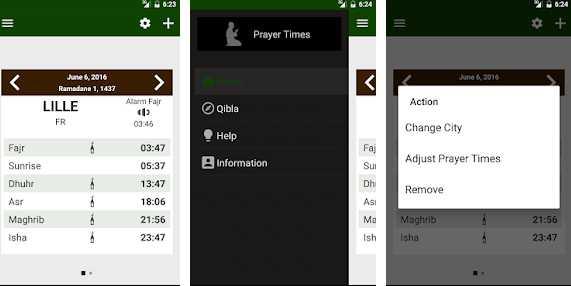 Aplikasi pengingat sholat Prayer times Qibla Azan