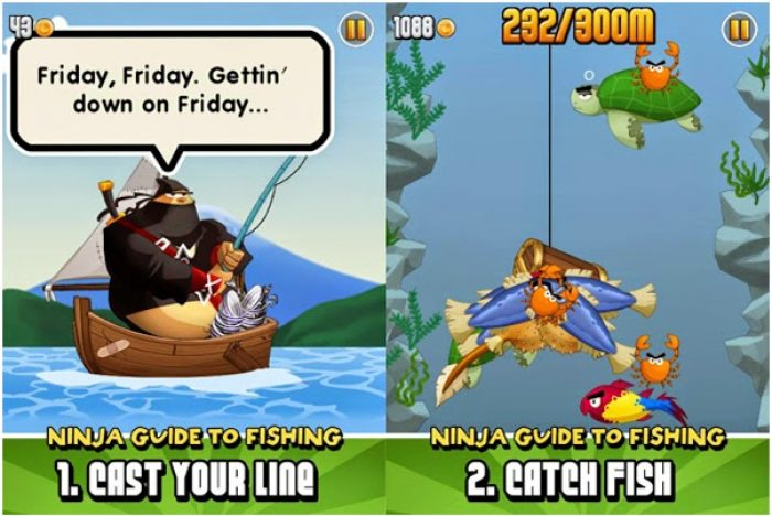 Game memancing ikan terbaik android Ninja Fishing