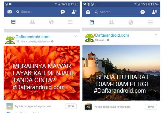 Cara Membuat Status Facebook Pakai Background Gambar Keren