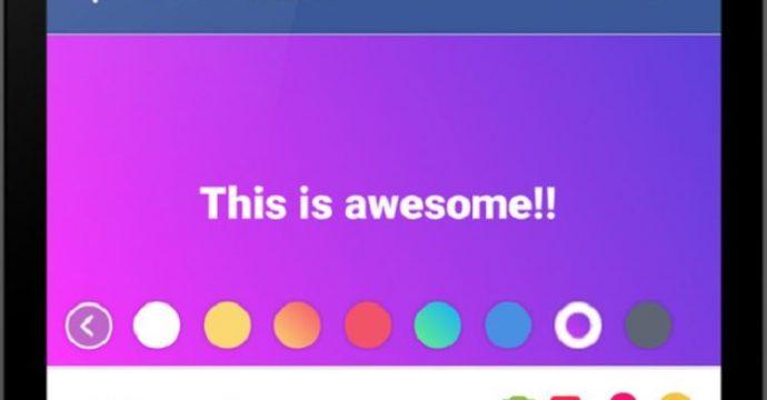Fitur Keren Facebook Terbaru Status Background Gambar