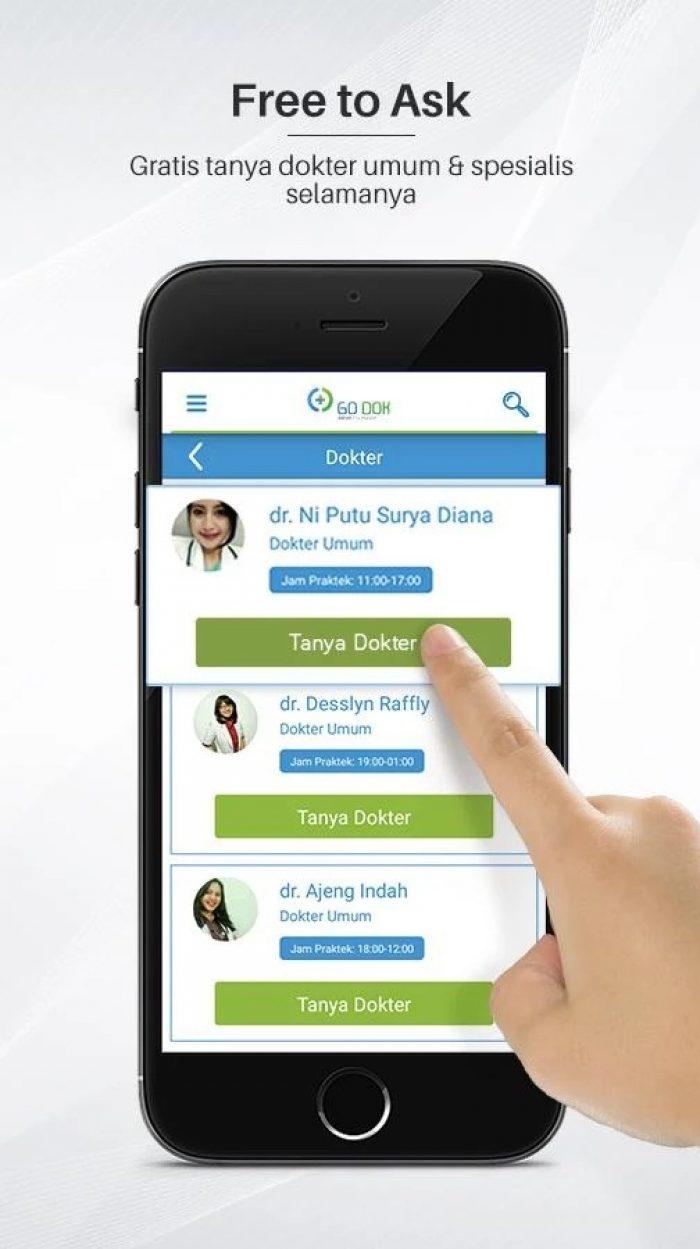 Aplikasi Konsultasi Dokter Go-Dok