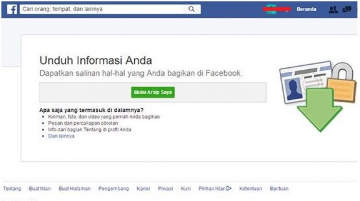Unduh informasi profil facebook