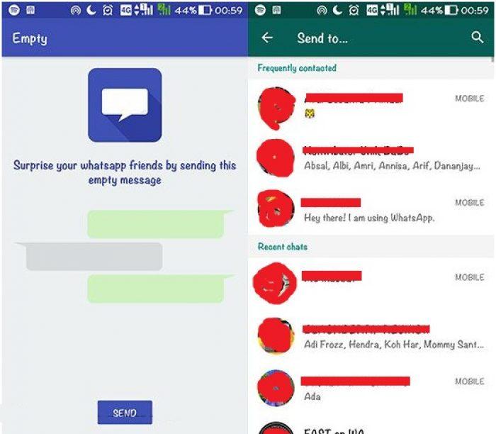 Mengerjai teman lewat Chat WhatsApp
