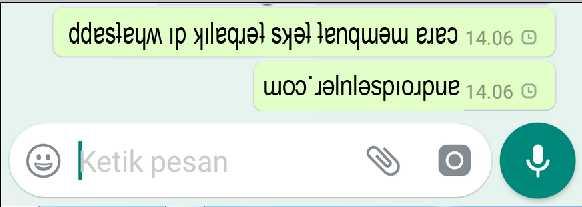 Cara Jahil Membuat Tulisan Terbalik WhatsApp