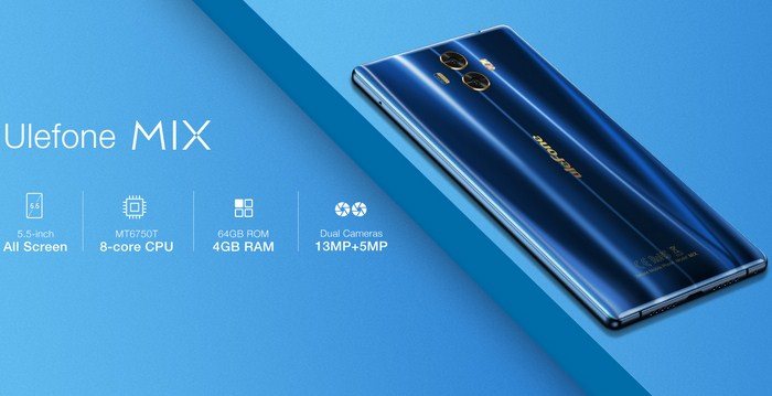 Ulefone Mix, Hp Spesifikasi Tangguh Tri-Bezel-Less, Ram 4GB Harga 2 Jutaan