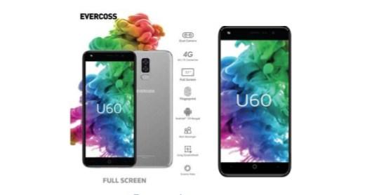 Harga dan Spek Evercoss U60, HP Full Screen Murah dengan Dual Kamera