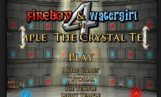 Game Air dan Api Game Fireboy & Watergirl 4: Kuil Kristal