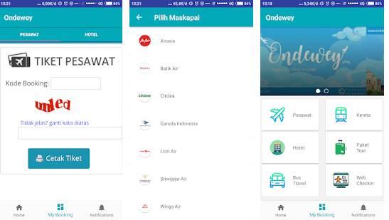 aplikasi layanan tiket pesawat, kereta paling ,murah