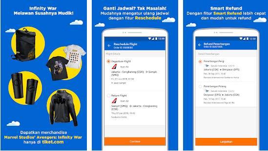 aplikasi pesan tiket terlengkap