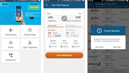 Aplikasi Pesan tiket dan Hotel Terbaik