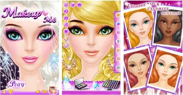 Game Merias Wajah Frozen Game Make Up Salon