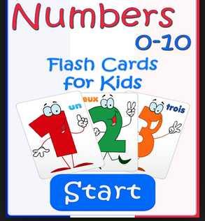 Game untuk anak usia dini 0-10 Numbers Babay flash Cards
