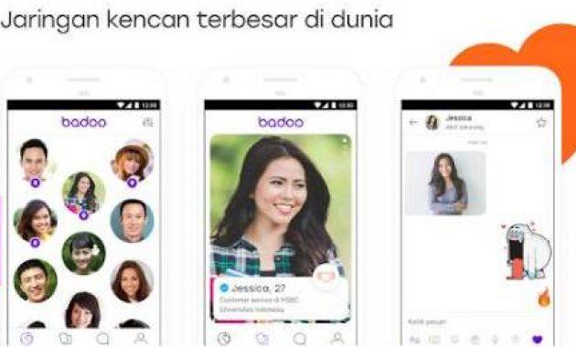 aplikasi kencan online Badoo. aplikasi mencari teman di sekitar kita