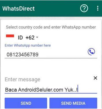 Cara Kirim WhatsApp tanpa Simpan Nomor Tujuan dengan WhatsDirect