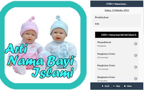 Aplikasi Arti Nama 2700 Nama Muslim Dan Artinya
