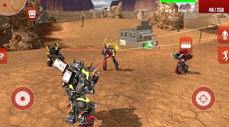game battle royale offline android terbaik - Royal Robots Battleground