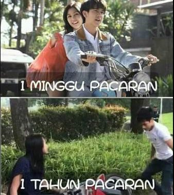 Meme Adi Saputra vs Dilan, 1 munggu pacaran vs 1 tahun pacaran