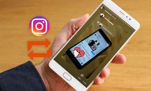 cara repost di instagram orang